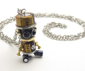 necklace, robot, and sweet image