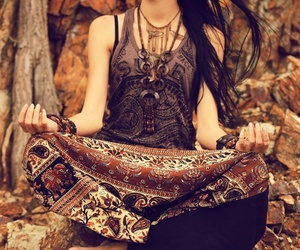 meditation and hippie image