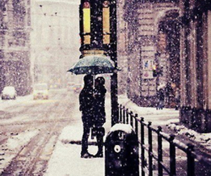 love, snow, and winter image