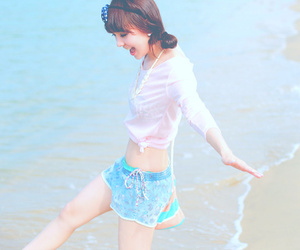 beach, blue, and happy image