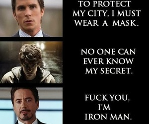 batman, superhero, and ironman image