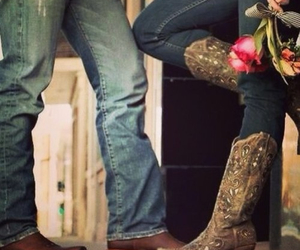 boots, cowboy, and love image