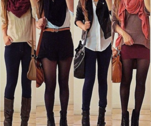 casual, scarf, and trendy image
