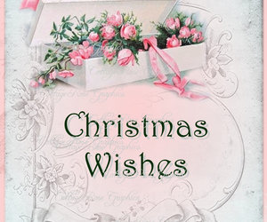 christmas, pink, and wishes image