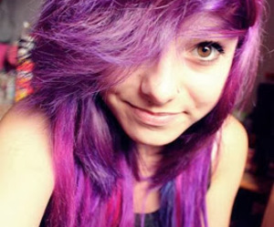 dyed hair, pretty, and purple hair image