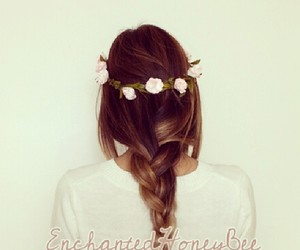 flower crown, flowers, and flower crowns image