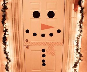 christmas, ideas, and door image