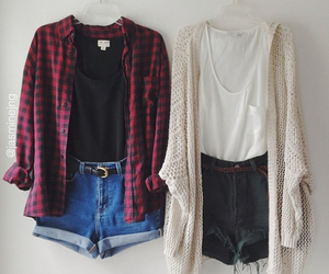 fashion, flannel, and vintage image