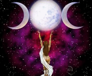 goddess and moon image