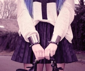 fashion, cross, and pastel goth image
