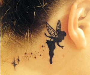 tattoo, disney, and tinkerbell image