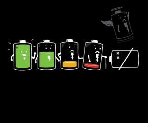 battery and funny image
