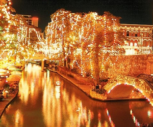 San Antonio, christmas, and lights image