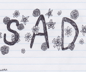 sad, flowers, and art image