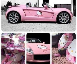 hello kitty, pink, and car image