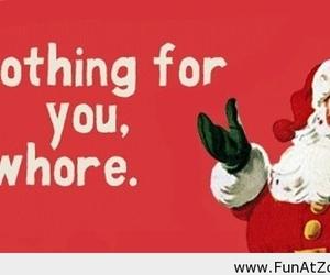 christmas, santa, and whore image