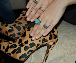 shoes, tattoo, and rings image