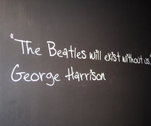 george harrison, the beatles, and quote image