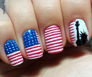 nails, america, and american image