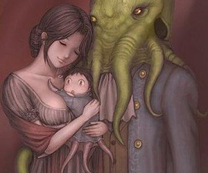 art, family, and cthulhu image