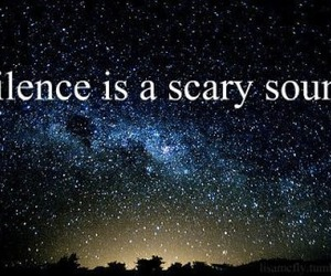 silence, quote, and stars image