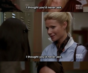 glee, subtitles, and holly holliday image