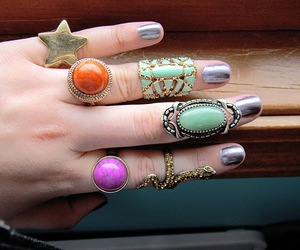 charlotte russe, fingernails, and jewelry image