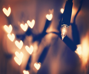 lights, christmas, and heart image