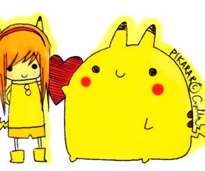 :3, pikachu, and cute image