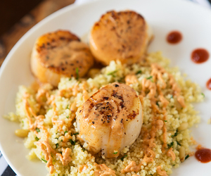 curry, scallop, and seafood image