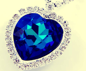 blue, crystal, and heart image