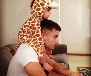 cute, baby, and dad image