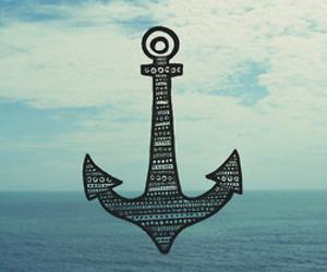 anchor, sea, and ocean image