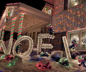 christmas lights, house, and tumblr image