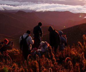 digital photography, mountains, and people image