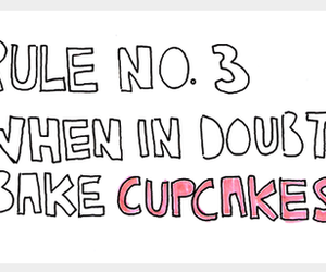 cupcake, rules, and doubt image
