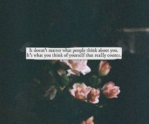 quote, flowers, and people image