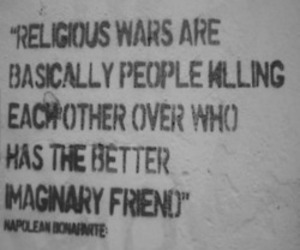 quote, war, and religion image