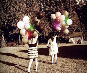 balloon, birthday, and dress image