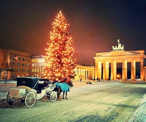 berlin, snow, and christmastree image