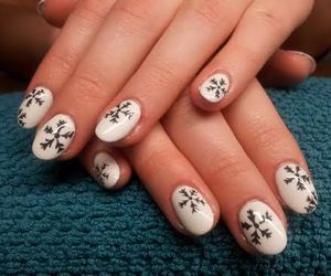 beautiful, black and white, and nails image