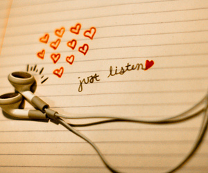music, love, and listen image