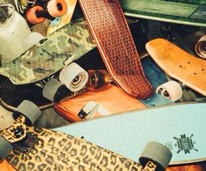 skate, skateboard, and hipster image