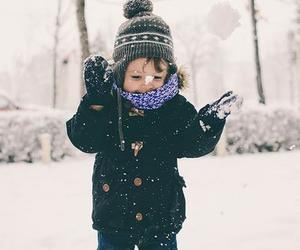 snow, winter, and baby image