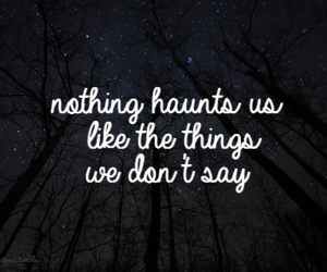 quotes, words, and haunt image