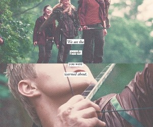 the hunger games, Clove, and glimmer image