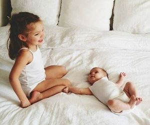 baby, love, and sisters image