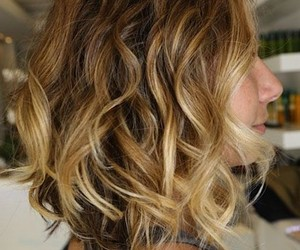 haircut, ombre, and short hairstyle image