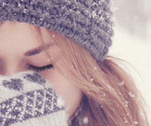 cold, girl, and snow image