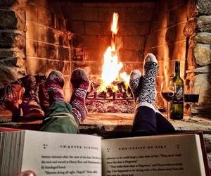 book, winter, and christmas image